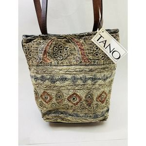 Tano Embroidered Tie Dyed Shoulder Bag